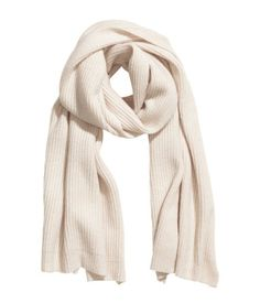 e1df50e5d84 Rib-knit scarf in a cashmere and wool blend. Size 19