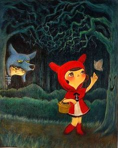 Little Red Riding Hood illustrated by Yuki Miyazaki
