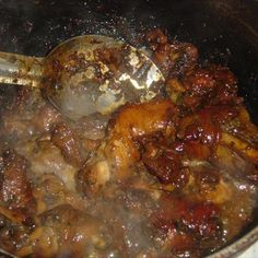 Trinidad Stewed Chicken Recipe-- My mom lives off this stuff. Everytime i got to her house she makes stew chicken LOL