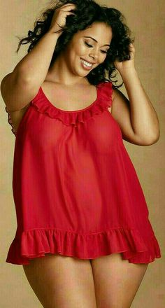 Plus Size Sinfully Sweet Georgette Babydoll, Cranberry Curvy Women Outfits, Sexy Outfits, Plus Size Outfits, Big Girl Fashion, Curvy Fashion, Plus Size Fashion, Curvy Models, Plus Size Beauty, Plus Size Model