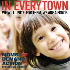 """Mons Demand Action For Gun Sense in Ameria"" unites with ""Everytown For Gun Safety."""