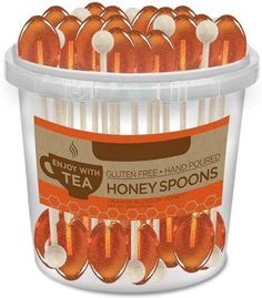 50 Individually Wrapped Orange Blossom Honey Naturally Flavored Tea Spoons