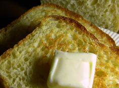 english muffin bread is an easy no knead bread with the texture and flavor of an English muffin!