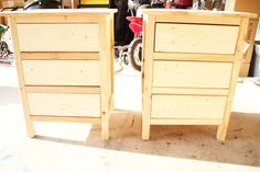 how to build reclaimed wood night stands.