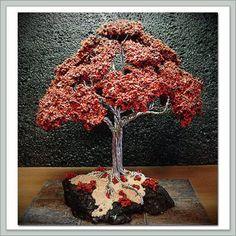 Amazon.com: Joebonsai Wire Bonsai Tree by Dale Bartlett - Dark Red Oak: Grocery & Gourmet Food