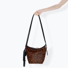 Image 4 of LEATHER BUCKET BAG WITH FRINGES from Zara