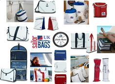All items made from genuine sail cloth and available to purchase from our website. Take a look at our Sailor Bags board for more pictures of each individual item. Look out for us on facebook (JClarke Marine) for offers and competitions.