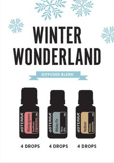Winter Wonderland diffuser blend. This is perfect to diffuse for those cold days inside!