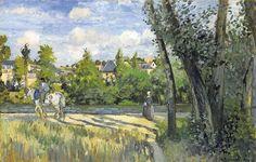 Camille pissarro, sunlight on the road, pontoise, 1874