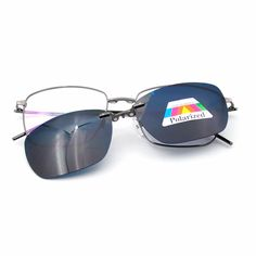 59f3bcac0207 Mens Polarized Magnetic Clip-on Sunglasses Glasses Frame Rx Retro Flexible  Metal