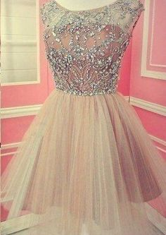 Simple Pretty Beading Real Made A-Line Short/Mini Prom Dress,Homecoming Dress,Graduation Dress,Party Dress F71