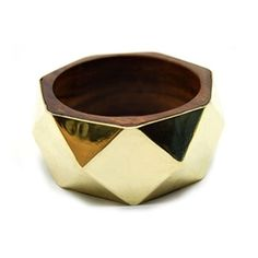 this wood & gold bangle is DOPE.