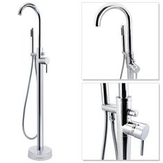 Cruze Floor Mounted Freestanding Bath Shower Mixer - Chrome                                                                                                                                                                                 More