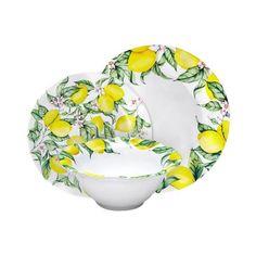 Limonata 12PC Melamine Dinnerware Set  sc 1 st  Pinterest & Cambridge Rose in Cobalt 12pc Melamine Dinnerware Set | Dinnerwares ...