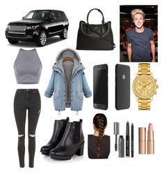 """Getting new car w/ best friend"" by anapascual on Polyvore featuring Topshop, Prada, Lacoste, Bobbi Brown Cosmetics and Charlotte Tilbury"
