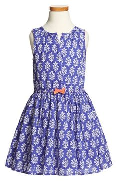 Mini Boden 'Twirly' Cotton Dress (Toddler Girls, Little Girls & Big Girls) available at #Nordstrom