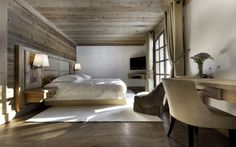 30 ideas for cozy bedroom furnishings in the style chalet - Home Decoration Chalet Design, Chalet Style, Ski Chalet, Alpine Chalet, Chalet Interior, Home Interior Design, Jacuzzi, Le Logis, Ideas Dormitorios