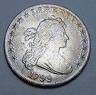 Bust Dollar Very Fine - Early 1799 Draped Bust Heraldic Eagle Silver Dollar Very Fine http://www.goldcoinsandbarsonline.com/bust-dollar-very-fine/#