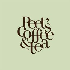 Peet's Coffee rebranding concept. Warm, peaceful, and inviting. Created by Art Center student Jee Kim