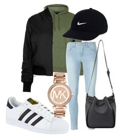 """""""."""" by rabiamiah on Polyvore featuring Topshop, Frame Denim, adidas, Michael Kors and NIKE"""