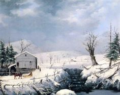 Winter in New England George Henry Durrie