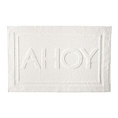 AHOY bath mat | Nautical Decor | Coastal Decorating #nautical #bath #coastal