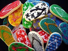 Flip flop cookies for Australia Day? Australian Party, Australia Day Celebrations, Flip Flop Cookie, Aus Day, Harmony Day, Rustic Cupcakes, Happy Australia Day, Aussie Food, Aboriginal Culture