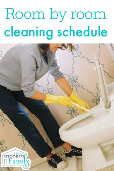 Need some spring cleaning tips? Check out eco friendly and time saving tips for spring cleaning your home. House cleaning made easy! Diy Cleaning Products, Cleaning Solutions, Cleaning Hacks, Daily Cleaning, Cleaning Schedules, Cleaning Supplies, Deep Cleaning Schedule, Chore Schedule, Organizing Solutions