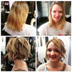 From lob to bob! Cut and colour by Terri #pureformsalon #yyc #hair #haircut #colour #beauty #hairstyle #bob