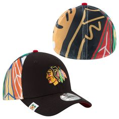Chicago Blackhawks Logo Wrapped 39THIRTY Flex Fit Hat by New Era. Pro Image  Sports at f9bed1b288f