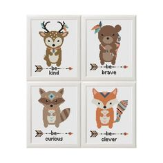 animals Cross Stitch pattern fox deer bear от AnimalsCrossStitch