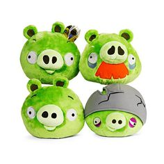 Angry Birds - Assortment of Four Pig Plush Toys 175