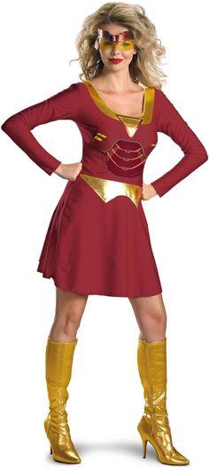 Amazon.co.jp: Iron Man 2 (2010) Movie - Iron Woman Classic Adult Costume アイアンマン2(2010)映画 - 鉄の女クラシック大人用?コスチューム♪ハロウィン♪サイズ:Small (4-6)