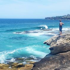 Take me back.  MacKenzies Bay. So beautiful.  #takemeback #whereidratherbe #mackenziesbay #sydney #bonditobronte #bondi #blue #beach #oceanview #ocean #rockclimbing #cliffview #like #follow #beauty #nature #australia by becca_j_irwin http://ift.tt/1KBxVYg