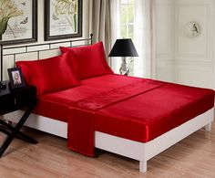 Honeymoon 4pc Bed Sheet Set Red Queen Sheets