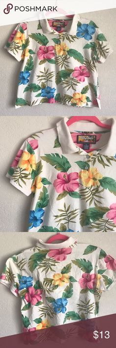 578888d9a Vintage cropped Hawaiian print polo shirt Vintage cropped Hawaiian print  polo shirt Reposh, bought it