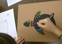 Zilker Elementary Art Class: February 2012 - aboriginal paintings - like how they did this.