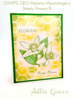 @StampTV & Gina K. Designs - an Orange Blossom Card created using Melanie Meunchinger's Stately Flowers 8.
