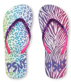 Kids' PSNY Sweet Safari Flip-Flops - PS From Aeropostale