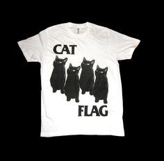 Black Flag CAT FLAG T Shirt Size