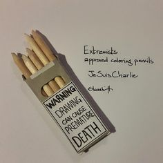 I just had to do something Extremists approved coloring pencils  #JeSuisCharlie #CharlieHebdo