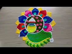 मकर संक्राती रंगोली २०१९ /pongal kolam design 2019 - YouTube Free Hand Rangoli Design, Small Rangoli Design, Colorful Rangoli Designs, Kolam Designs, Diwali Rangoli, Wedding Signs, Stencils, Special Occasion, Projects To Try