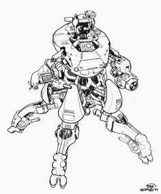 View an image titled 'Mech Sketch' in our Rage art gallery featuring official character designs, concept art, and promo pictures. Game Character Design, Character Design References, Character Concept, Character Art, Rage Art, Robot Concept Art, Futuristic Art, Mechanical Design, Character Modeling