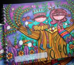 """7 Likes, 1 Comments - Lala González (@lalagonzalezartista) on Instagram: """"El amor por el color y la ilustración hecho #bitácoras Las ilustraciones del libro para…"""""""