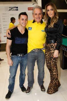 26.nov.2013 - Otávio Mesquita organiza o 6º Sinuca Cup, em São Paulo, com a…