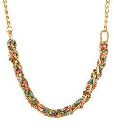 Look what I found on #zulily! Pastel & Goldtone Irina Peace Statement Necklace #zulilyfinds
