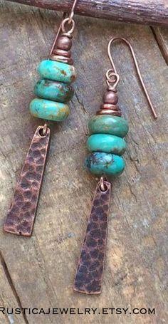 Metal Jewelry, Boho Jewelry, Jewelry Crafts, Beaded Jewelry, Handmade Jewelry, Jewelry Design, Jewelry Box, Rustic Jewelry, Jewellery
