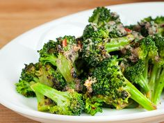 Seared Broccoli with Anchovy Vinaigrette  by tastingtable as adapted from Maria Hines   Repin, Comment and Like !