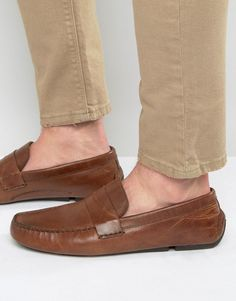 4940f17b99b3a8 Image 1 of Red Tape Penny Loafer In Tan Leather Penny Loafers
