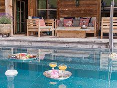 Alpen Luxus Chalet mit Wellness & Pool | Schmiedalm Outdoor Pool, Outdoor Decor, Wellness, Pool Houses, Austria, Luxury, Alps, Architecture, Outdoor Swimming Pool